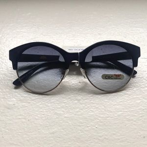 retro navy blue sunglasses. never worn!